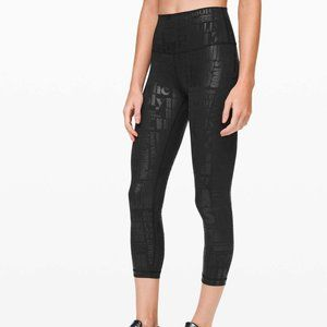"Lululemon Wunder Under HR Crop 23"" *Flux Black 6"